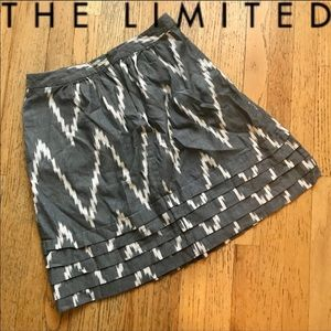 NWOT | The Limited | Grey & Cream Skirt